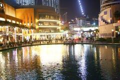 迪拜晚上视图 库存图片
