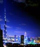 迪拜晚上视图 库存照片