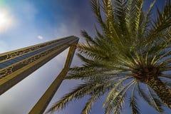 迪拜框架,迪拜,酋长管辖区- 1月 2018年 库存图片