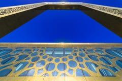 迪拜框架-从下面看法,迪拜, 1月 2018年 免版税库存图片