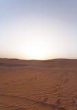 迪拜沙漠沙丘 免版税库存图片
