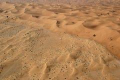 迪拜沙漠视图 库存照片