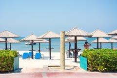 迪拜海岸,波斯湾 库存图片