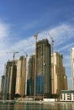 迪拜海滨广场摩天大楼 图库摄影