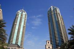 迪拜海滨广场摩天大楼 库存照片