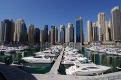 迪拜海滨广场游艇 库存图片