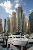 迪拜海滨广场游艇 免版税库存照片