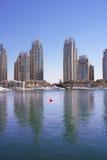 迪拜海滨广场阿拉伯联合酋长国 库存照片