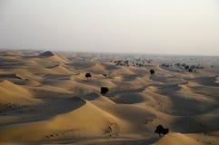 迪拜点心,迪拜,阿拉伯联合酋长国沙丘  免版税库存图片