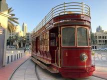 迪拜电车轨道 库存照片