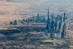 迪拜的全景 免版税库存照片