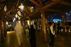 迪拜的夜 免版税库存照片