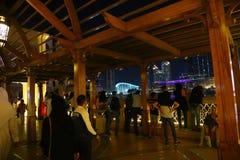 迪拜的夜 免版税图库摄影