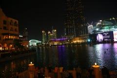 迪拜的夜 库存图片