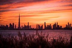 迪拜的日落 库存图片
