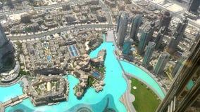 迪拜的早晨veiwe从bruj khalifa的在125弗洛尔 图库摄影