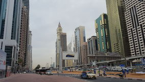 迪拜的街道 免版税库存照片