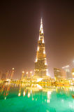 迪拜的进城 库存照片