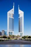 迪拜的都市风景增光与许多beautif 免版税图库摄影