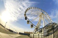 迪拜节日城市` s巨人轮子 免版税图库摄影