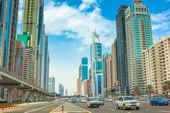 迪拜街市区 免版税库存图片