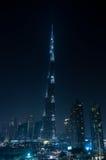 迪拜街市和Burj哈利法 库存照片
