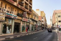 迪拜街视图 免版税库存图片