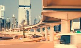 迪拜街道 免版税图库摄影