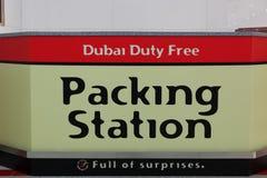 迪拜责任费用装箱 库存图片