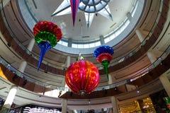 迪拜购物中心内部  免版税库存图片