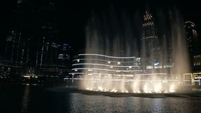 迪拜购物中心和喷泉 股票录像