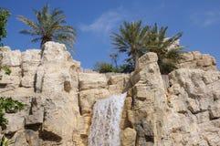 迪拜通配公园的旱谷 库存照片