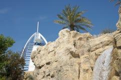 迪拜通配旱谷的waterpark 免版税库存图片