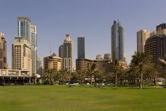 迪拜都市风景 图库摄影