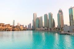 迪拜酋长管辖区塔, U A e 库存照片