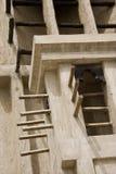 迪拜阿拉伯联合酋长国在遗产村庄的风塔 免版税库存照片