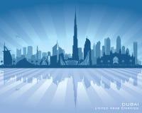 迪拜阿拉伯联合酋长国市地平线传染媒介剪影 向量例证