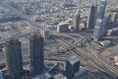 迪拜鸟瞰图 免版税库存照片
