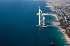 迪拜,阿拉伯联合酋长国。Burj Al阿拉伯人从上面 库存照片