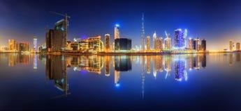 迪拜,阿拉伯联合酋长国的企业海湾 库存照片