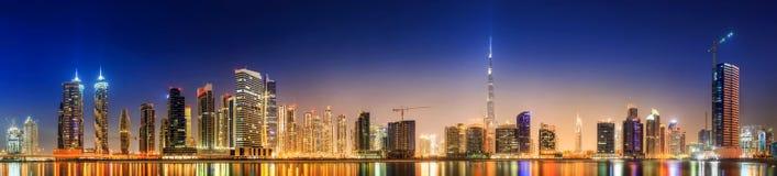 迪拜,阿拉伯联合酋长国的企业海湾 库存图片