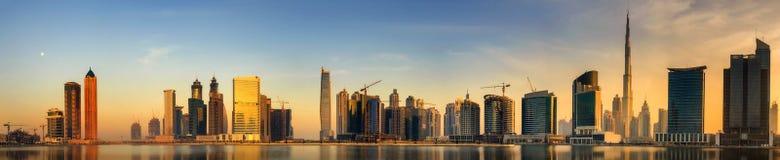 迪拜,阿拉伯联合酋长国的企业海湾 免版税库存照片