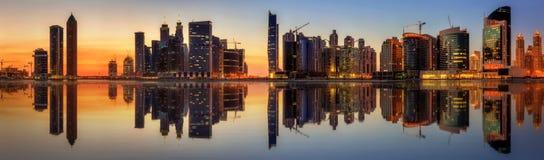 迪拜,阿拉伯联合酋长国的企业海湾 免版税图库摄影