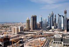 迪拜,阿拉伯联合酋长国的地平线视图 免版税库存照片