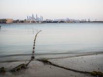 迪拜,阿拉伯联合酋长国的地平线 免版税库存照片