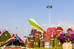 迪拜,阿拉伯联合酋长国2017年11月17日-奇迹庭院在迪拜阿拉伯联合酋长国 图库摄影