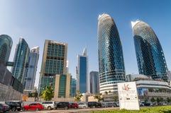 迪拜,阿拉伯联合酋长国- 2016年12月:在美丽的da的街市大厦 库存图片