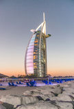 迪拜,阿拉伯联合酋长国- 10月8日:世界的前七st的全视图 免版税库存图片