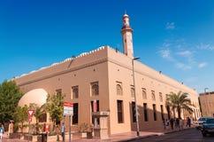 迪拜,阿拉伯联合酋长国- 10月8日:历史的Al Fahidi堡垒的迪拜博物馆 免版税库存图片