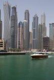迪拜,阿拉伯联合酋长国- 2016年5月12日:小游艇船坞区 免版税图库摄影